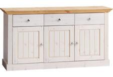 STEENS Kommode Sideboard MONACO B 145 cm Landhausstil Kiefer White Wash Gelaugt