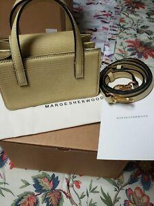 Marge Sherwood Mini Grandma Baguette Shoulder Bag Tan