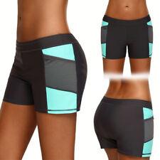 Grey/Teal Stretchy Mesh Side Cover Up Bikini Shorts Swimwear Boardshorts S-3XL