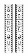 Set Fototaschen Fotohalter Fotovorhang Filmstreifen Hochformat 10x15 für 7 Fotos