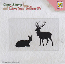 Nellie Snellen / Clear / Reindeer / Stag / Christmas / UNMOUNTED /stamp /CSIL001