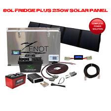 80L Dual Zone Fridge Freezer 250W Ultralight Solar And Dual Battery Wiring Kit