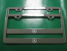 "(2) Brand New "" MERCEDES-BENZ LOGO "" CHROME metal license plate frame"