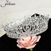 Sweet Luxury Crystal Queen Full Round Crown Rhinestone Bridal Tiara Pageant