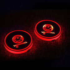 2Pcs LED RGB Cup Drinks Holder Drink Bottle Pat Interior 7 Color Changing Decor