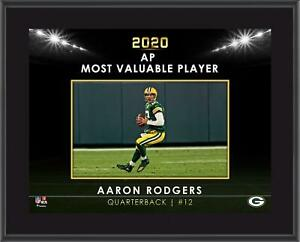 """Aaron Rodgers Green Bay Packers 2020 NFL Most Valuable Player 10.5"""""""