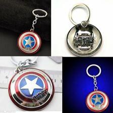 US Marvel Comics Captain America Shield Avengers Pewter Key Chain Key Ring Charm