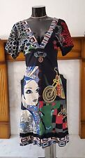 DESIGUAL MULTI MIX PATERN DRESS SIZE S