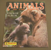 1989 Panini Animals of the World Empty Album