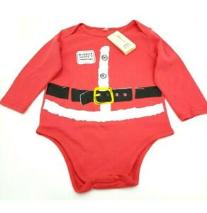 Girls Mommy & Daddy's Perfect Gift All In One Christmas Santa Top Age 3-4