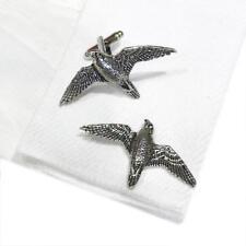 Quality Cufflinks Handmade in England Silver Pewter Peregrine Falcon High