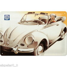 Blechschild 20 x 30, VW Cabrio, Werbeschild Art. 20219