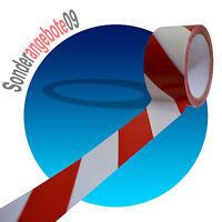100 Meter Absperrband Markierungsband Signalband Warnband rot weiß Flatterband
