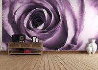 Papier peint photo murale Violet Rose Décoration poster géant fleur idées