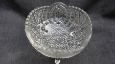 1914 Pressed Glass Indiana Rocket 3 Footed Berry Bowl