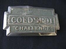 """Vintage  """"COLDSPOT CHALLENGE""""  Emblem METAL APPLIANCE"""