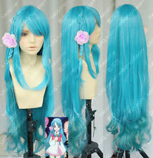 AKB0048 その ちえり Ice Blue hair Cosplay wig COS 100cm  H175