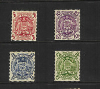 AUSTRALIA 1949-50 ARMS SET OF 4  (SG 224a-224d) MNH
