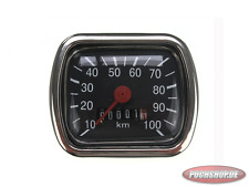 Tachometer 0-100km/h Puch DS, MC50, R50, VZ50 Moped A-QUALITY part Replica