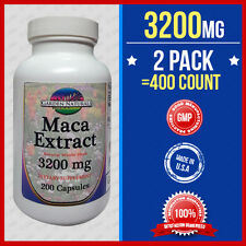 2pk=400Caps Maca 3200mg Per Serve Size Sexual Health Energy Herb Saponins USA