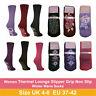 Womens Ladies Thermal Lounge Slipper Grip Non Slip Ladies Winter Warm Socks 4-8