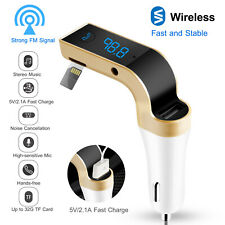 🔥Car Fm Transmitter Fast Usb Charger Led Handsfree Mp3 Player Aux-in Tf Card