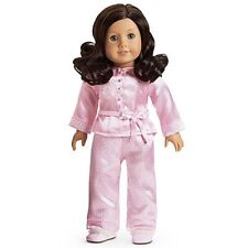 American Girl Ruthie SATIN PAJAMAS retired pjs top pants slippers NO DOLL