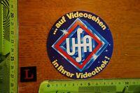 Alter Aufkleber Media Kino Film Video Stars ...auf Videosehen UFA ...Videothek