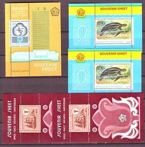 Indonesien - postfrisches Lot Blöcke aus 1977 - 1980