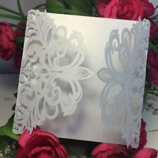 10Pcs Wedding Business Greeting Card Envelope Lace Flower Invitation Cards