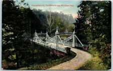 "Youngstown, Ohio Postcard ""The White Bridge, Mill Creek Park"" PCK Dated 1909"