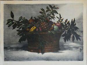 Nino Tirinnanzi litografia Fruttiera anni '70 77x57 firmata numerata
