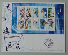 FDC France 1er jour bloc 76 3691 à 3700 les sports de glisse 3/07/2004