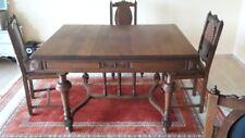 Antiker Esstisch. Gründerzeit,massiv Eiche, Mit 6 Stühlen
