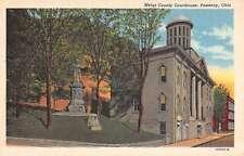 Pomeroy Ohio Meigs Court House Street View Antique Postcard K52090