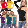Maglietta donna mono manica scollata disco maglia donna top blusa colletto AV778