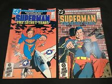 Superman The Secret Years # 1 & 2 DC Comics 1985 Frank Miller Covers Curt Swan