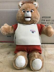 Teddy Ruxpin Talking Stuffed Toy Bear Vintage no Tape Used