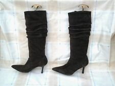 Unbranded Women's Faux Suede Slim Knee High Boots