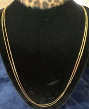 """Double 24"""" Gold Chains 2mm"""
