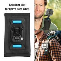 for GoPro Hero 7 6 5 Camera SHOOT 360 Degree Rotary Backpack Clip Shoulder Belt