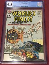 WORLD'S FINEST 129 CGC 6.5 Batman Joker Lex Luthor Aquaman Green Arrow 1962