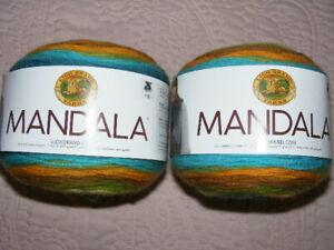 LION BRAND YARNS ~ Two (2) Mandala Cakes ~ Kelpie ~ 590 yds / 5.3 oz ea