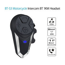 BT-S3 Motorcycle BT Helmet Intercom FM Radio Motorbike Bluetooth Earphone Black