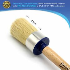 Premium Chalk & Wax Brush Natural Boar Bristles for Furniture Painting & Waxing