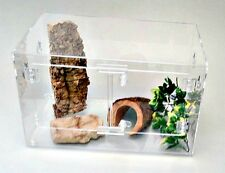 TERRESTRIAL 10.5 GALLON  ACRYLIC CAGE WITH DOORS FOR SNAKES,TERRARIUM, REPTILE