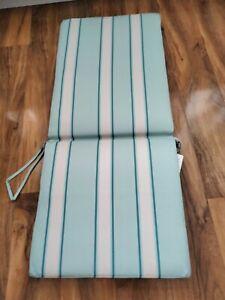 2x Blooma  Isla Striped sun Arm Chair  cushion Mint Green Striped New/ Sealed