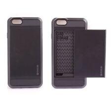 Hybrid Card pocket Slim Wallet Back Case Cover For Apple IPhone 6 6 Plus 5S 5