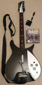 PS3 Rickenbacker Guitar And Rock Band Beatles Game + Dongle (John Lennon RB325)