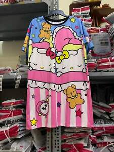 Sanrio Hello Kitty Pink Blue Twins Sleeping Dress. One Size